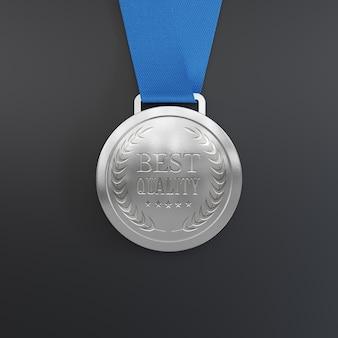 Zilveren medaille mockup