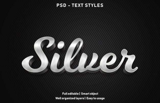 Zilveren teksteffect
