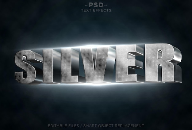 Zilveren teksteffecten