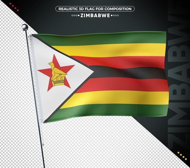 Zimbabwe 3d geweven vlag voor samenstelling