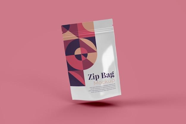 Zip bag realistische mockup geïsoleerd