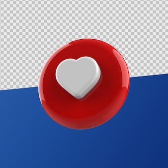 Zoals pictogram 3d-rendering
