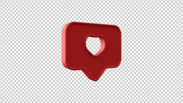 Zoals symbool op transparante achtergrond. 3d-afbeelding.