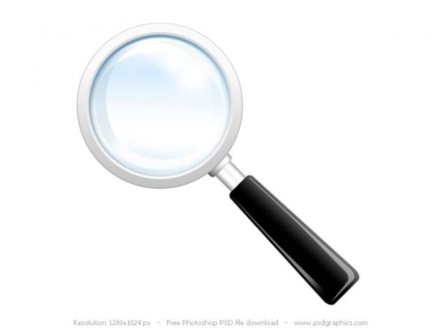 Zoek het pictogram, psd vergrootglas