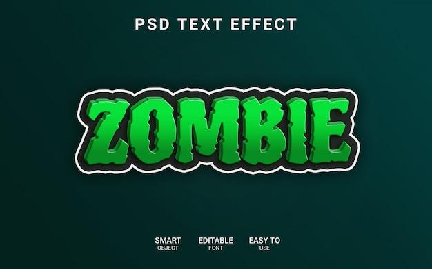 Zombie teksteffect