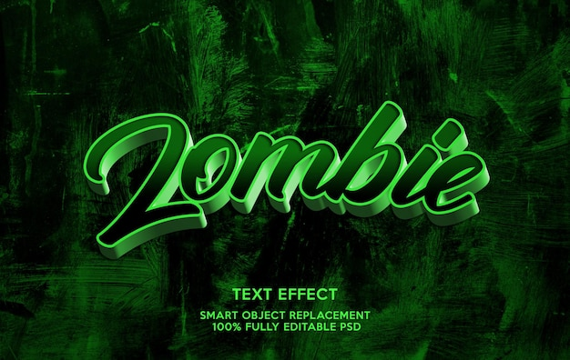 Zombie-teksteffectsjabloon