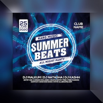 Zomer beat party flyer