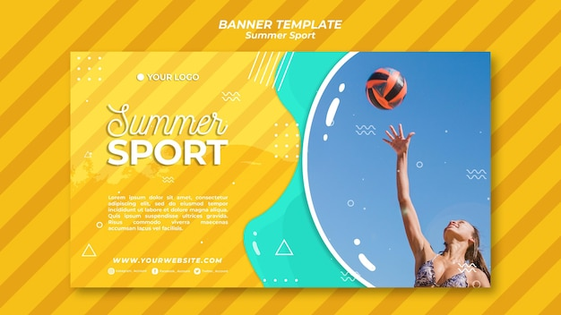 Zomer sport banner sjabloon concept