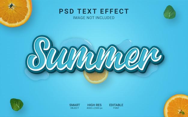 Zomer teksteffect