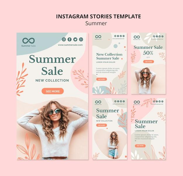 Zomer verkoop instagram verhalen