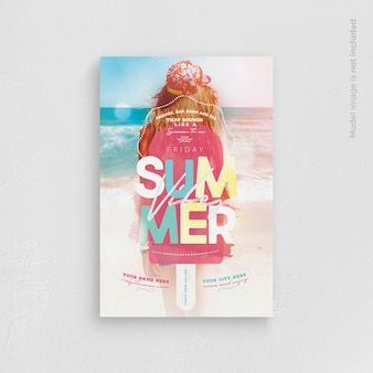 Zomer vibes flyer template