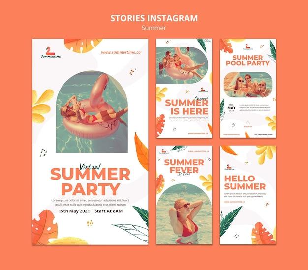 Zomerfeest instagram-verhalen