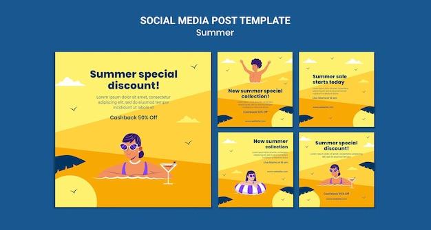 Zomerverkoop social media posts