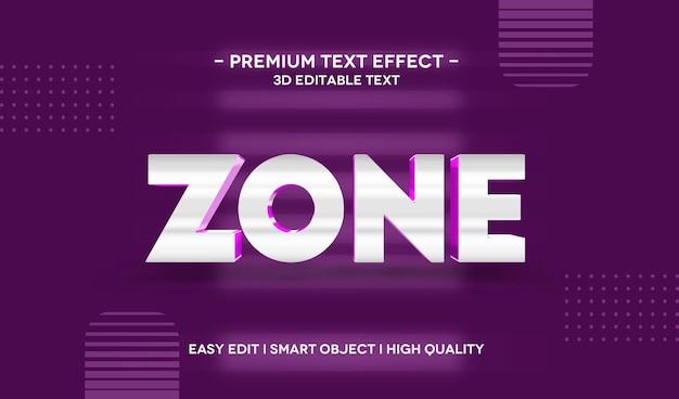 Zone 3d-tekststijleffectsjabloon
