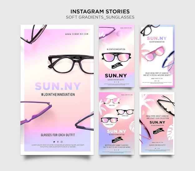 Zonnebril winkel instagram verhalen sjabloon sjabloon