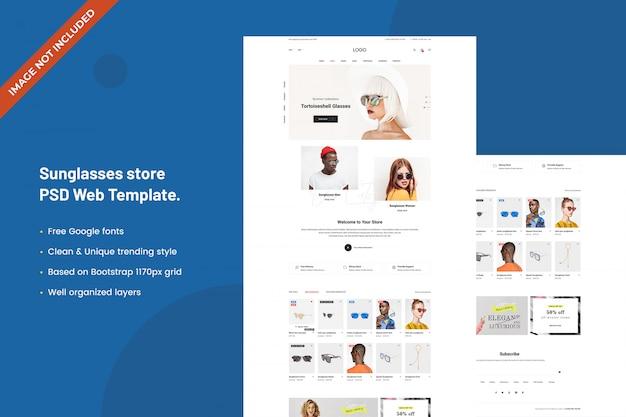 Zonnebril winkel websjabloon