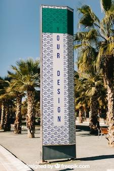Zonnige billboard mockup