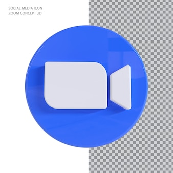 Zoom 3d render concept