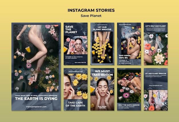 Zorg voor de aarde instagram-verhalen