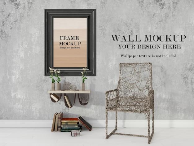 Zwart dik frame en muurmodel