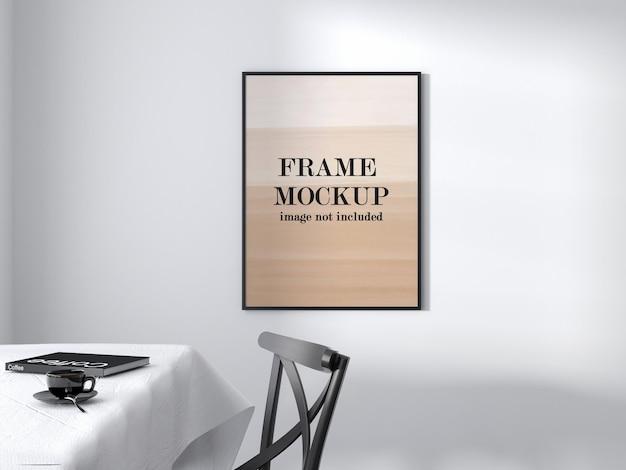 Zwart dun frame mockup