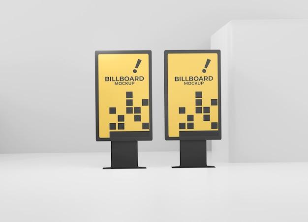 Zwart eenvoudig reclamebordmodel