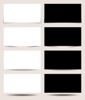 Zwart en wit projectie panelen