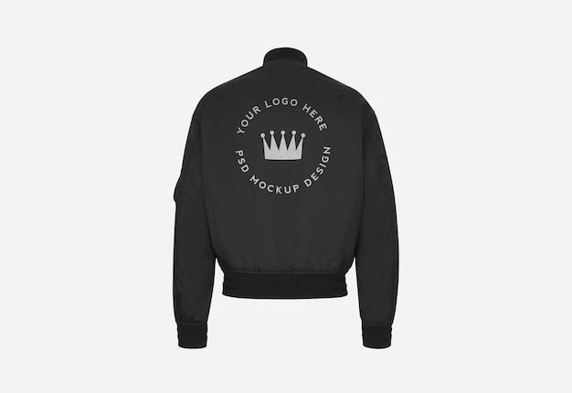 Zwart jasje achterkant logo ontwerp mockup geïsoleerd