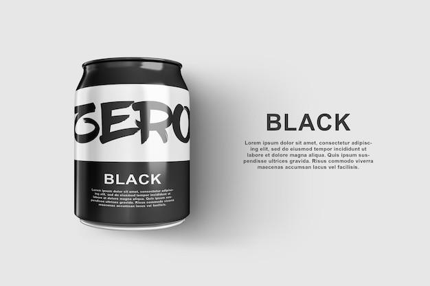 Zwart kan mockup