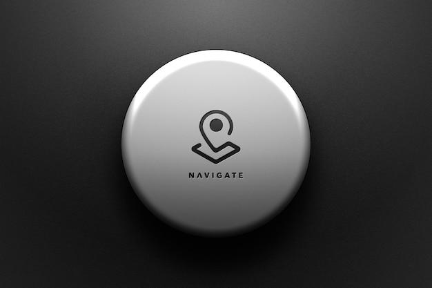 Zwart logo mockup ontwerpweergave