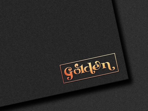 Zwart papieren logo mockup