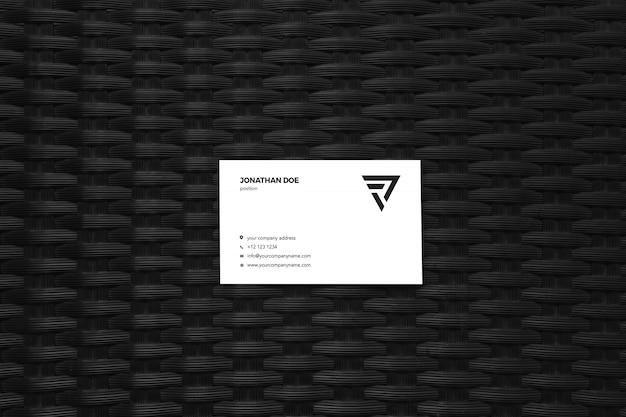 Zwart patroon visitekaartje mockup