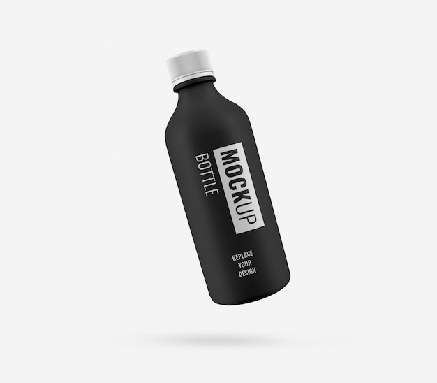 Zwart plastic mockup reclamemodel