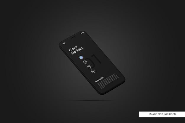 Zwart scherm van mobiele telefoon