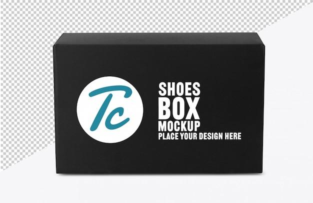 Zwart schoenendoosmodel voor uw ontwerp