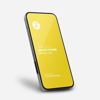 Zwart smartphonemodel voor uw ontwerp