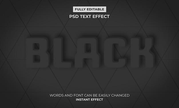 Zwart teksteffect