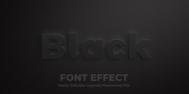 Zwart tekststijleffect mockup