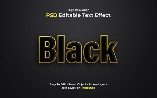 Zwart tekststijleffect