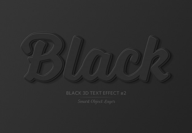 Zwart vet 3d teksteffect