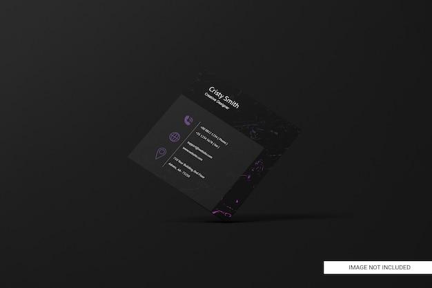 Zwart vierkant visitekaartje mockup