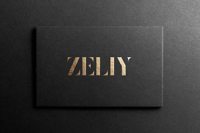 Zwart visitekaartje logo mockup