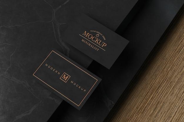 Zwart visitekaartje mockup