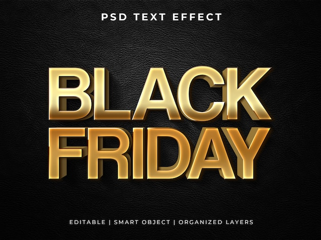 Zwart vrijdag 3d teksteffect