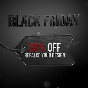 Zwart vrijdag mockup ontwerp