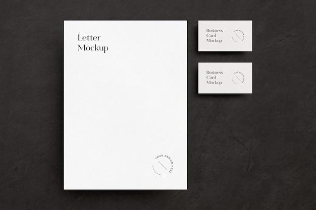 Zwart-wit briefpapiermodel