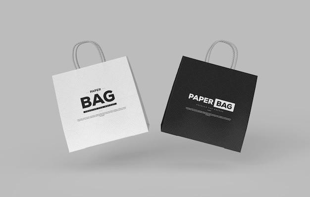 Zwart-wit elegante boodschappentas mockup