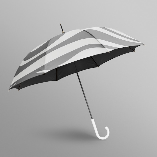Zwart-wit paraplu mockup