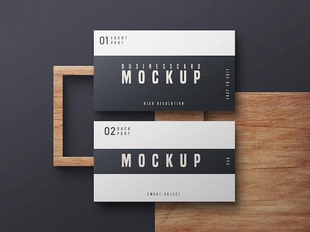 Zwart-wit visitekaartje mockup ontwerp