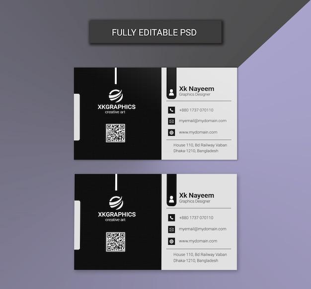 Zwart-wit zakelijke visitekaartjesjablonen